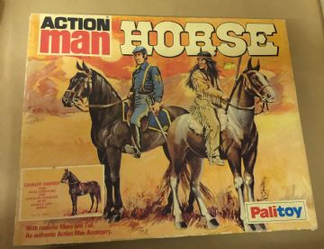 VINTAGE ACTION MAN - HORSE - CAVALRY CHARGER - BOXED